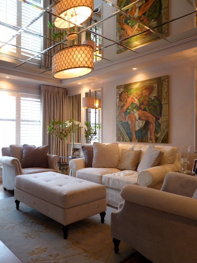 custom upholstered furniture in interior design home
