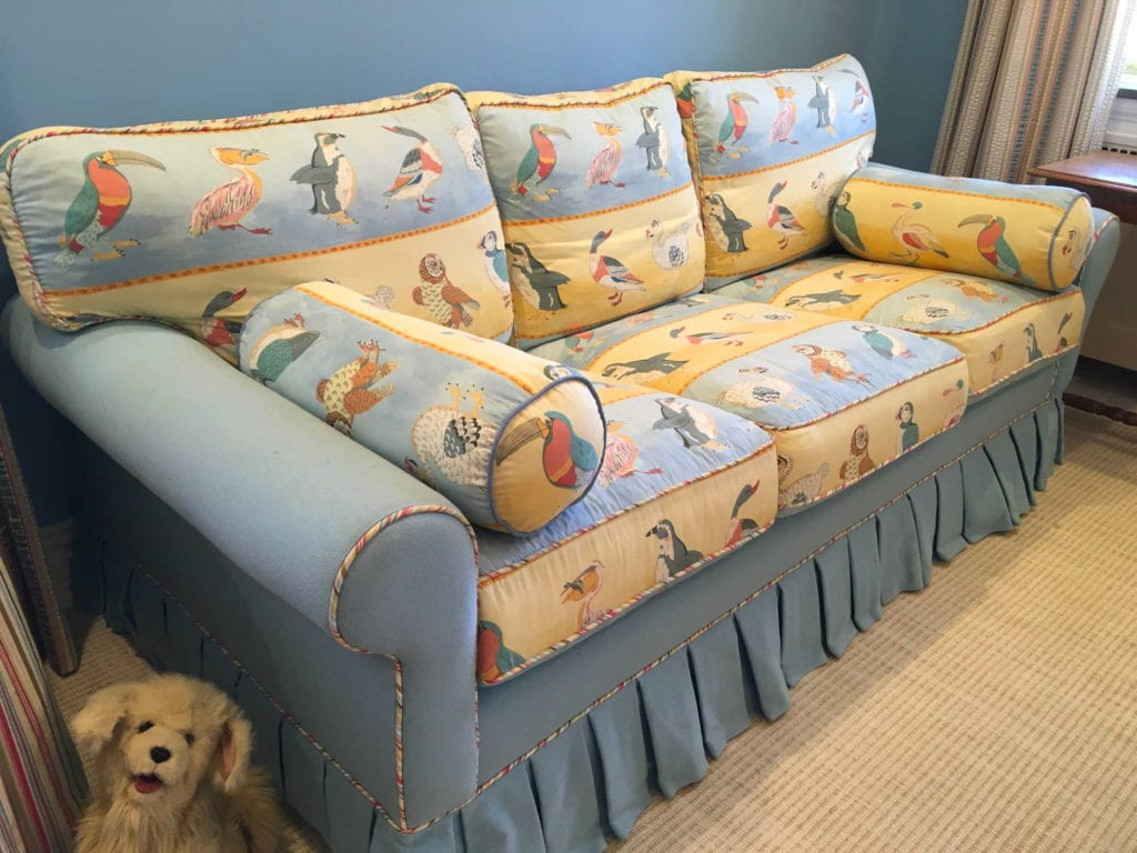Children's sofa AFTER custom upholstery