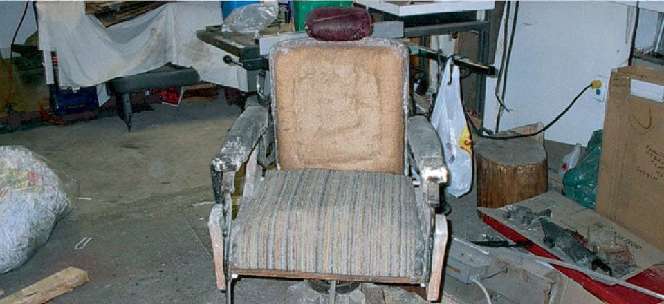 Antique Barber Chair - Before