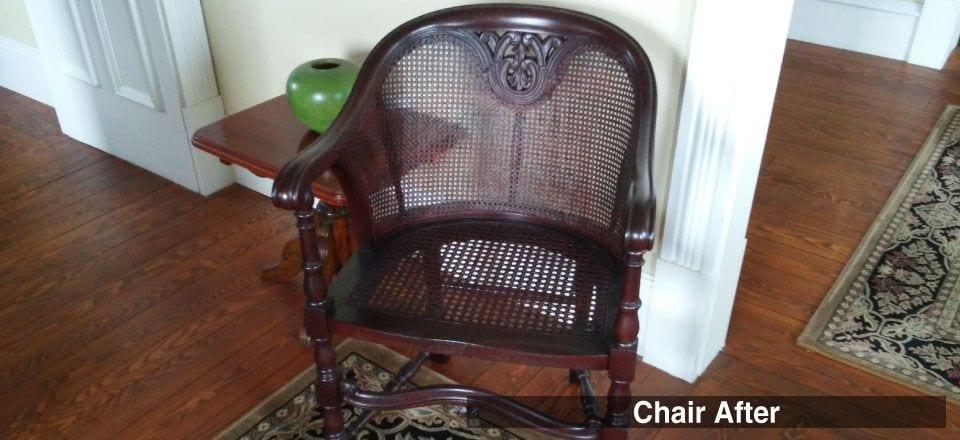 Antique cane chair - restored