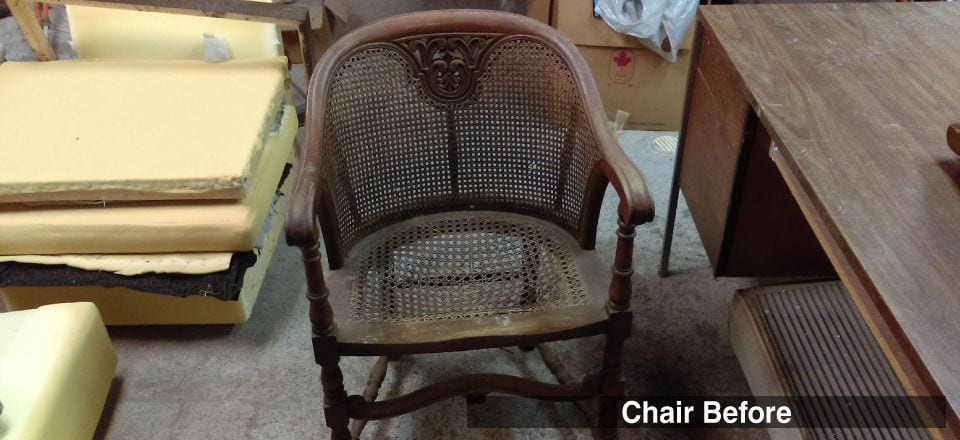 Antique Cane Chair - BEFORE