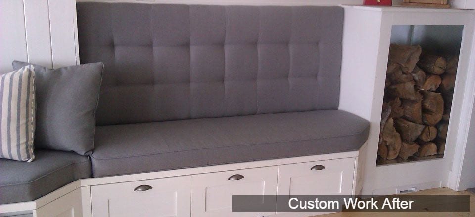 Custom padded bench installation finished