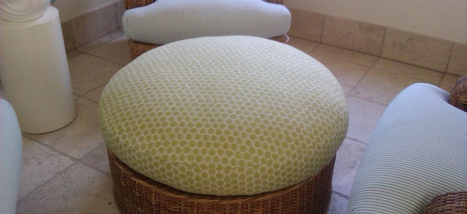 upholstered footstool ottomans