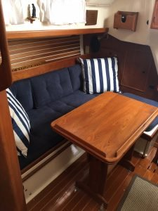 reupholstered boat cushions