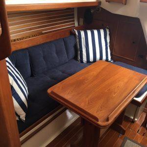reupholstered boat cushions